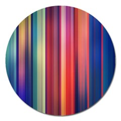 Texture Lines Vertical Lines Magnet 5  (Round)