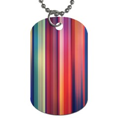Texture Lines Vertical Lines Dog Tag (One Side)