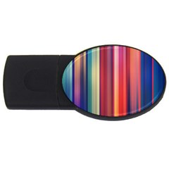 Texture Lines Vertical Lines USB Flash Drive Oval (2 GB)