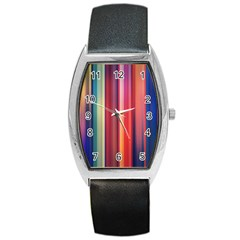 Texture Lines Vertical Lines Barrel Style Metal Watch