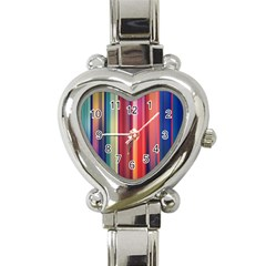 Texture Lines Vertical Lines Heart Italian Charm Watch