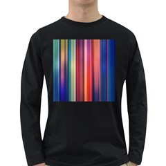 Texture Lines Vertical Lines Long Sleeve Dark T Shirts