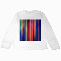 Texture Lines Vertical Lines Kids Long Sleeve T Shirts