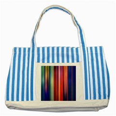 Texture Lines Vertical Lines Striped Blue Tote Bag