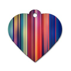 Texture Lines Vertical Lines Dog Tag Heart (one Side)
