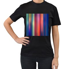 Texture Lines Vertical Lines Women s T Shirt (black)