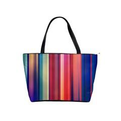 Texture Lines Vertical Lines Shoulder Handbags
