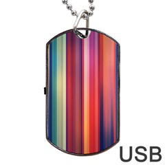 Texture Lines Vertical Lines Dog Tag USB Flash (One Side)