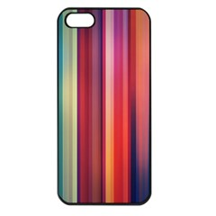 Texture Lines Vertical Lines Apple Iphone 5 Seamless Case (black)