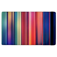 Texture Lines Vertical Lines Apple iPad 2 Flip Case