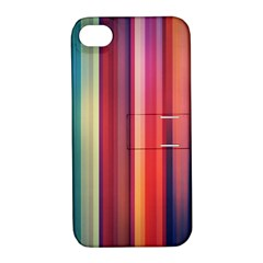 Texture Lines Vertical Lines Apple iPhone 4/4S Hardshell Case with Stand