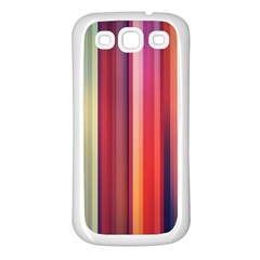 Texture Lines Vertical Lines Samsung Galaxy S3 Back Case (white)