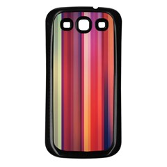 Texture Lines Vertical Lines Samsung Galaxy S3 Back Case (Black)