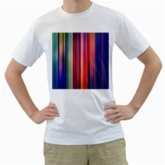 Texture Lines Vertical Lines Men s T-Shirt (White)