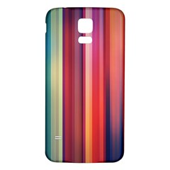 Texture Lines Vertical Lines Samsung Galaxy S5 Back Case (White)