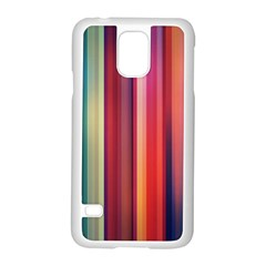 Texture Lines Vertical Lines Samsung Galaxy S5 Case (white)