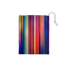 Texture Lines Vertical Lines Drawstring Pouches (Small)