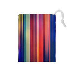 Texture Lines Vertical Lines Drawstring Pouches (Medium)