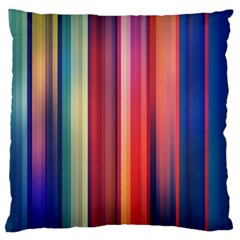 Texture Lines Vertical Lines Large Flano Cushion Case (one Side)