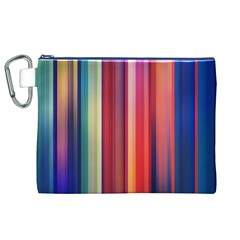 Texture Lines Vertical Lines Canvas Cosmetic Bag (XL)