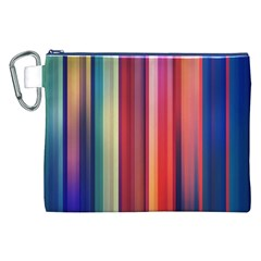 Texture Lines Vertical Lines Canvas Cosmetic Bag (xxl)