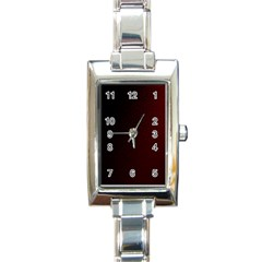 Abstract Dark Simple Red Rectangle Italian Charm Watch