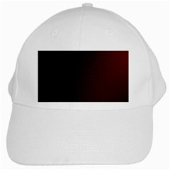 Abstract Dark Simple Red White Cap