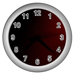 Abstract Dark Simple Red Wall Clocks (Silver)