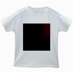 Abstract Dark Simple Red Kids White T Shirts
