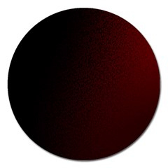 Abstract Dark Simple Red Magnet 5  (round)