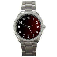 Abstract Dark Simple Red Sport Metal Watch