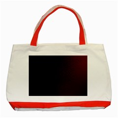 Abstract Dark Simple Red Classic Tote Bag (Red)