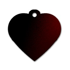 Abstract Dark Simple Red Dog Tag Heart (one Side)