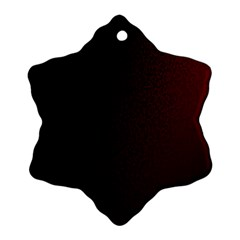 Abstract Dark Simple Red Snowflake Ornament (two Sides)