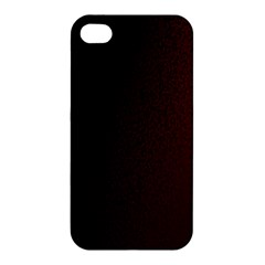 Abstract Dark Simple Red Apple iPhone 4/4S Hardshell Case