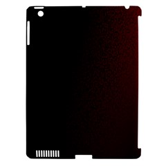 Abstract Dark Simple Red Apple iPad 3/4 Hardshell Case (Compatible with Smart Cover)