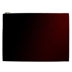 Abstract Dark Simple Red Cosmetic Bag (XXL)