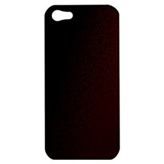 Abstract Dark Simple Red Apple iPhone 5 Hardshell Case
