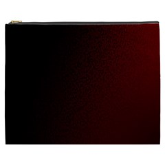Abstract Dark Simple Red Cosmetic Bag (XXXL)
