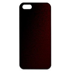 Abstract Dark Simple Red Apple Iphone 5 Seamless Case (black)