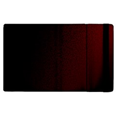Abstract Dark Simple Red Apple iPad 3/4 Flip Case
