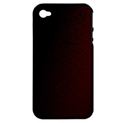 Abstract Dark Simple Red Apple iPhone 4/4S Hardshell Case (PC+Silicone)