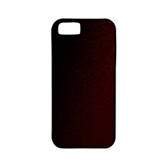 Abstract Dark Simple Red Apple iPhone 5 Classic Hardshell Case (PC+Silicone)