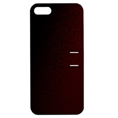 Abstract Dark Simple Red Apple iPhone 5 Hardshell Case with Stand