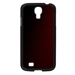 Abstract Dark Simple Red Samsung Galaxy S4 I9500/ I9505 Case (Black)
