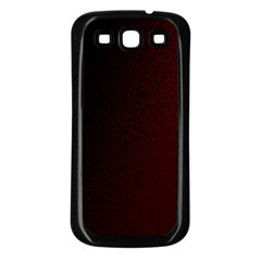 Abstract Dark Simple Red Samsung Galaxy S3 Back Case (Black)