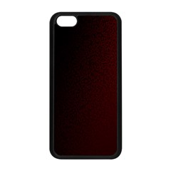 Abstract Dark Simple Red Apple iPhone 5C Seamless Case (Black)