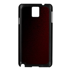 Abstract Dark Simple Red Samsung Galaxy Note 3 N9005 Case (Black)