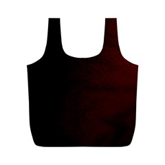 Abstract Dark Simple Red Full Print Recycle Bags (M)
