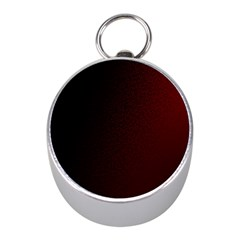 Abstract Dark Simple Red Mini Silver Compasses